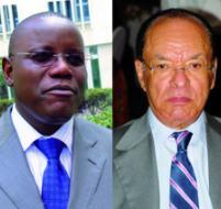 Aubin Minaku Ndjalandjoku et Léon Kengo wa Dondo