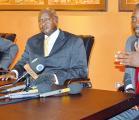 Paul Kagame, Yoweri Museveni et Joseph Kabila Kabange réunis à Kampala le 22 novembre 2012. DRESERVES.